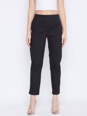 Q-Rious Slim Fit Women Black Trousers