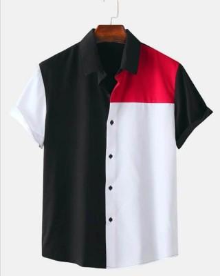 BEING REAL Men Color Block Casual Multicolor Shirt