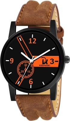 Keepkart New Stylish Leather Strap 001 Analog Watch   For Men Keepkart Wrist Watches
