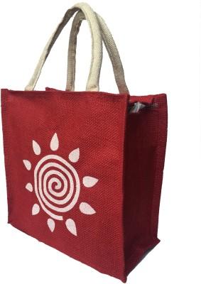 Regiis Zipper And Strong Handle Jute Bag Lunch Bag Red, 3 L Regiis Bags, Wallets   Belts