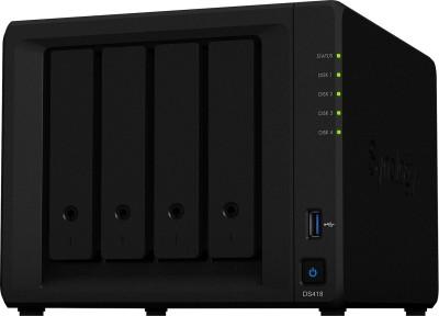 Synology DiskStation DS418 0 TB External Hard Disk Drive(Black, Mobile Backup Enabled, External Power Required)