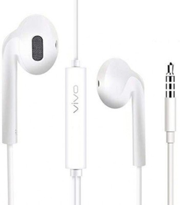 vivo High Bass Earphones Noise Isolating White 1103 Wired Headset(White, In the Ear)