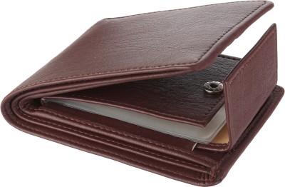 wild edge Men Brown Artificial Leather Money Clip(10 Card Slots)
