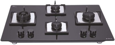 Elica Hob Gas Stove Glass Automatic Gas Stove(4 Burners)