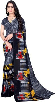 Leelavati Printed Daily Wear Georgette Saree(Grey)