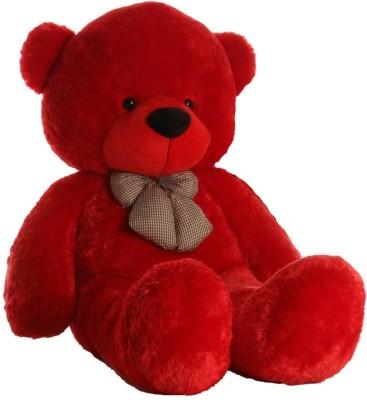 ToyHub 3 Feet Stuffed Spongy Hug gable Cute Teddy Bear   91 cm Red ToyHub Soft Toys