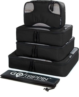 Gotrippin Travel Organizers, Packing Cubes for Men and Women and Kids and Baby, 5 pc Set (1 Large, 2 Medium...
