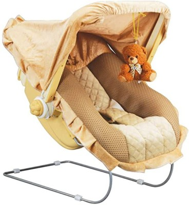 Gudda Gudia Premium 12 in 1 Musical Carry Cot/Bouncer with Mosquito Net and Storage Box-MDAE IN INDIA Bouncer(Brown)