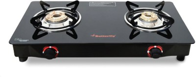 Butterfly Duo Glass Manual Gas Stove(2 Burners)