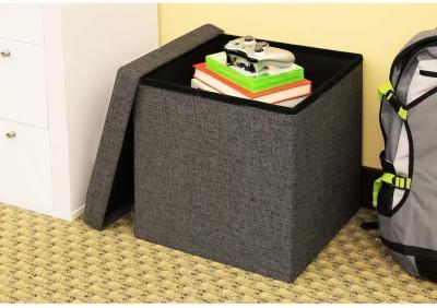 GTC Portable & Foldable Storage Stool for Living Room Stool (Grey)
