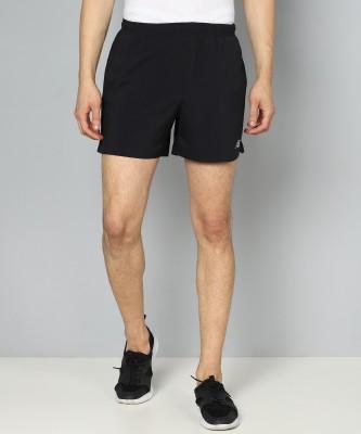 New Balance Solid Men Black Sports Shorts