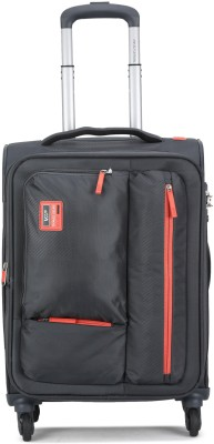 VIP STAX 4W EXP STROLLY 58 GREY Expandable Cabin Luggage   20 inch VIP Suitcases