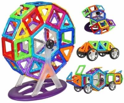 vasoya enterprises 52 PCS Mag Magical Magnetic Building Blocks 3D Magic Play Stacking Set for Brain Development Educational, Learning   Creativity Puz