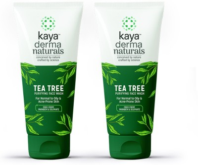 Kaya Tea Tree Purifying Face Wash, For normal to oily & acne-prone skin, 50 ml (Pack of 2)  (2 Items in the set)