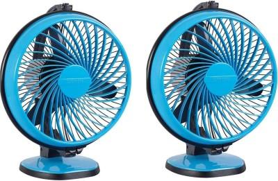 LUMINOUS 230MM Buddy 230 mm 3 Blade Table Fan(Blue, Pack of 2)