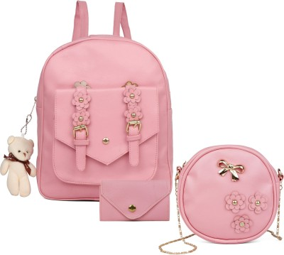 WORLD TRENDING Girl Stylish mini bakpack 10 L Backpack(Pink)