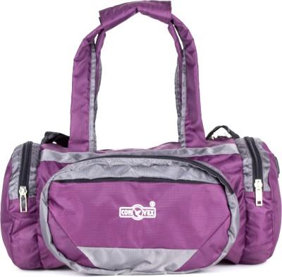 convex Circle   19 Travel Duffel Bag Purple convex Duffel Bags