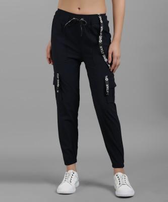 Funday Fashion Slim Fit Women Dark Blue Trousers