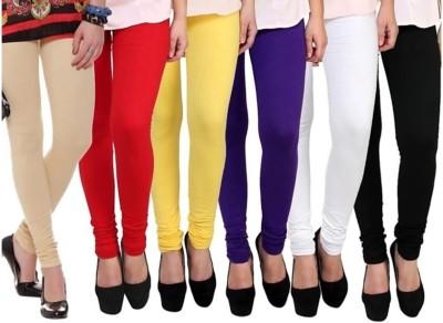 KHUSHTRAD Churidar  Ethnic Wear Legging(Multicolor, Solid)