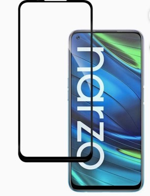 electmart Edge To Edge Tempered Glass for Realme 6, Realme 6i, Realme 7, Realme 7i, Realme Narzo 20 Pro, Oppo A52(Pack of 1)