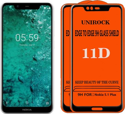 Unirock Tempered Glass Guard for Nokia 5.1 Plus(Pack of 2)