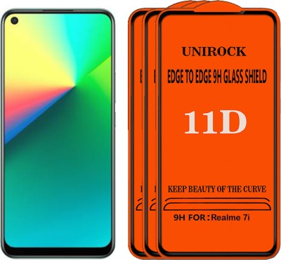 Unirock Tempered Glass Guard for Realme 7i(Pack of 3)