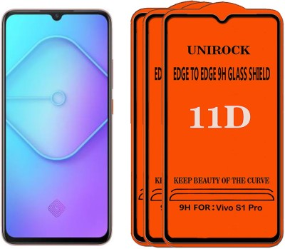 Unirock Tempered Glass Guard for Vivo S1 Pro(Pack of 3)