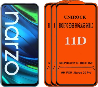 Unirock Tempered Glass Guard for Realme Narzo 20 Pro(Pack of 3)