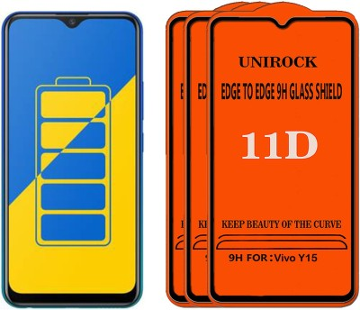 Unirock Tempered Glass Guard for Vivo Y15(Pack of 3)