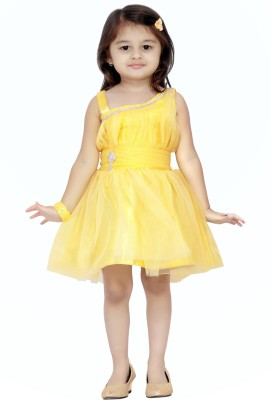 Aarika Party Wear Sleeveless Frock Kids Costume Wear  available at flipkart for Rs.599