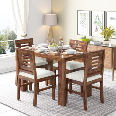 Kendalwood Furniture Premium Dining Room Furniture Wooden Dining Table with 4 Chairs Solid Wood 4 Seater Dining Set(Finish Color - Provincial Teak Finish)