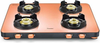 Prestige EDGE Pastel PEPS 04 Glass Manual Gas Stove(4 Burners)