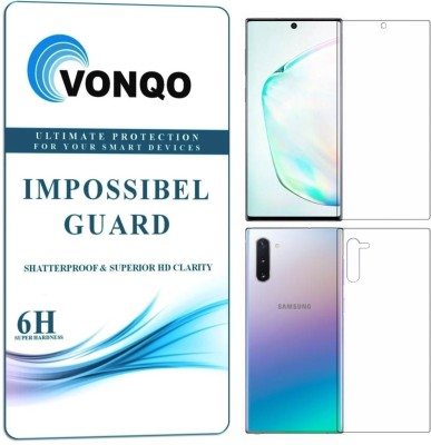 Vonqo Front and Back Screen Guard for Samsung Galaxy Note 10(Pack of 2)