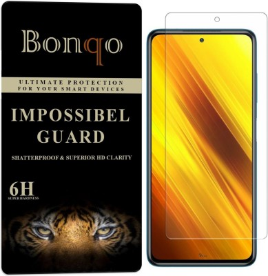 Bonqo Impossible Screen Guard for Poco X3(Pack of 1)