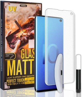MARSHLAND Tempered Glass Guard for Samsung Galaxy S10, uv Tempered glass(Pack of 3)