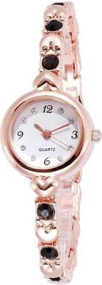 HINISH Cosmic Rose Gold Brown Diamond For Women Analog Watch   For Girls HINISH Wrist Watches