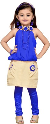 Aarika Girls Party(Festive) Top Skirt(Blue)