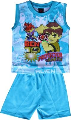 ELK Boys Casual T-shirt Trouser(Blue)  available at flipkart for Rs.290