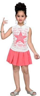 Aarika Girls Party(Festive) Top Skirt(Pink)