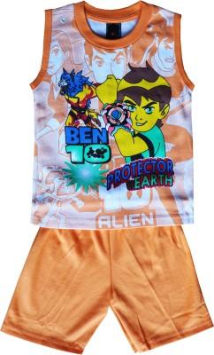 ELK Boys Casual T-shirt Trouser(Orange)  available at flipkart for Rs.287