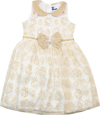 1ee3803668bc 29% OFF on 612 League Girls Midi/Knee Length Casual Dress(White,  Sleeveless) on Flipkart | PaisaWapas.com