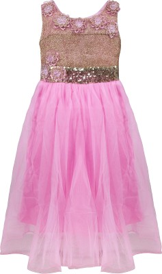 Addyvero 88 Party Dress(Pink, Sleeveless)