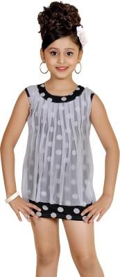 Abhira Girls Mini/Short Party Dress(Black, Sleeveless)