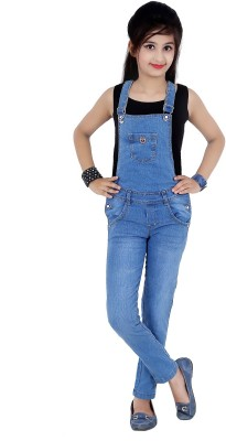 97df1deefb Sunday Casual Dungaree For Girls Casual Solid Cotton(Blue