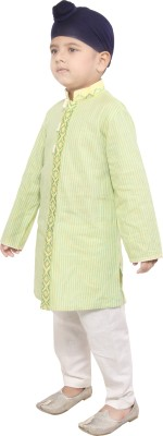 Yuvraaj Boys Kurta and Pyjama Set(Yellow Pack of 1)
