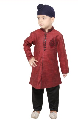 Yuvraaj Boys Kurta and Pyjama Set(Green Pack of 1)