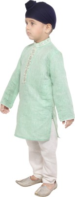 Yuvraaj Boys Kurta and Pyjama Set(White Pack of 1)
