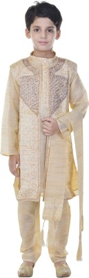 Soundarya Boys sherwani and Churidar Set(Beige Pack of 1)  available at flipkart for Rs.1199