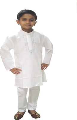Neeya Fashions Boys Kurta and Pyjama Set(White Pack of 1) Flipkart