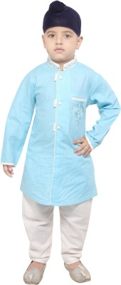 Yuvraaj Boys Kurta and Pyjama Set(Blue Pack of 1)
